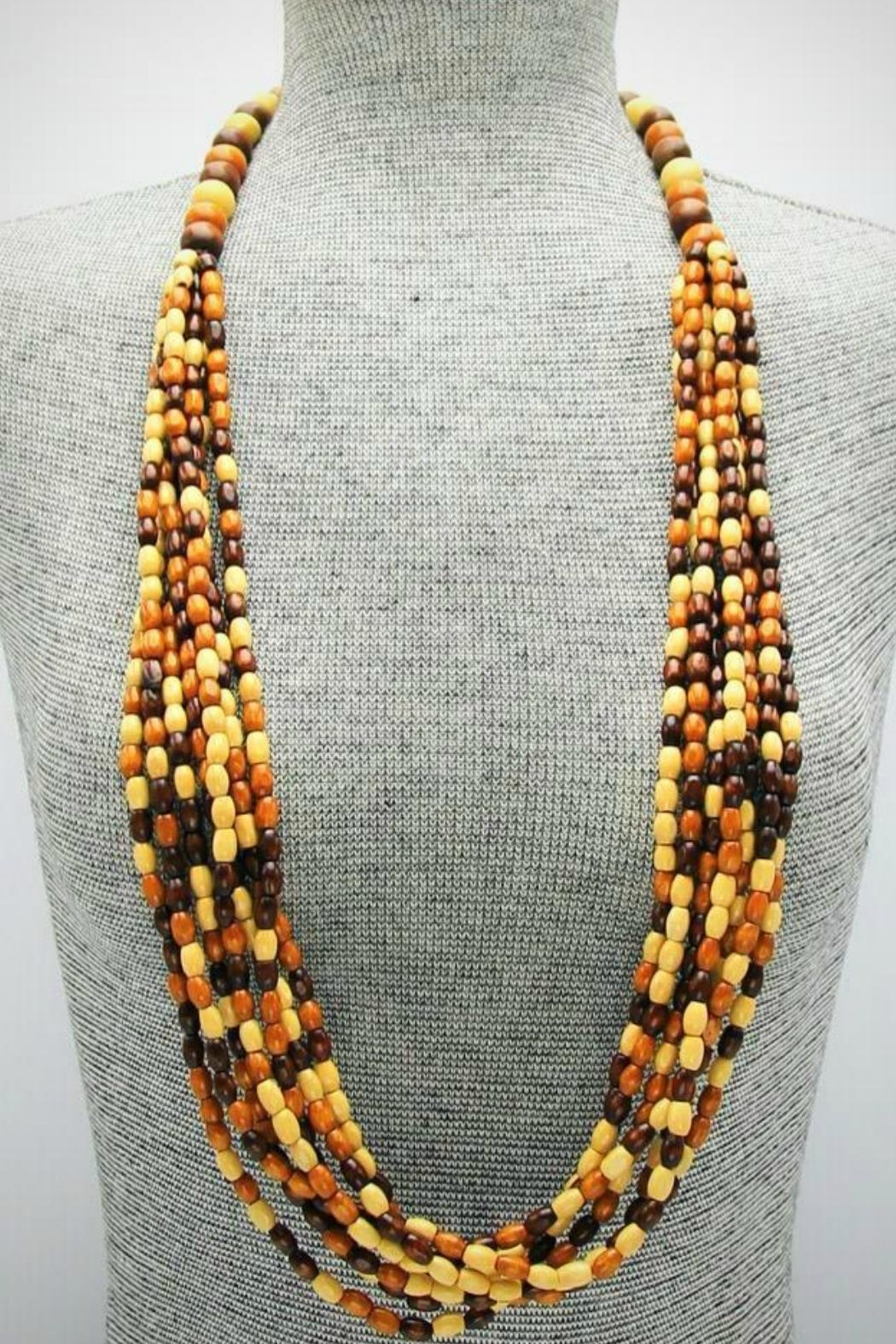 Embellish Wooden Bead Necklace - Front Full Image