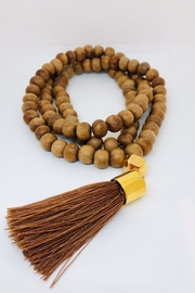 Abeja Wooden Beaded Necklace - Front cropped