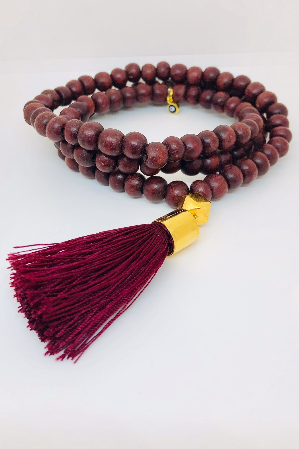 Abeja Wooden Beaded Necklace - Main Image