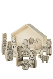 Accent Decor Wooden Nativity Scene - Front cropped