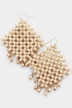Fashion Jewelry Wooden Net Earrings - Alternate List Image