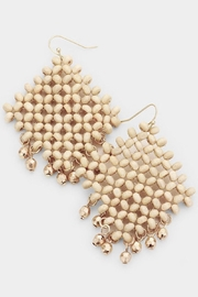 Fashion Jewelry Wooden Net Earrings - Product Mini Image