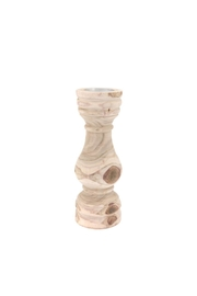 North American Country Home Wooden Pillar Candleholder - Product Mini Image