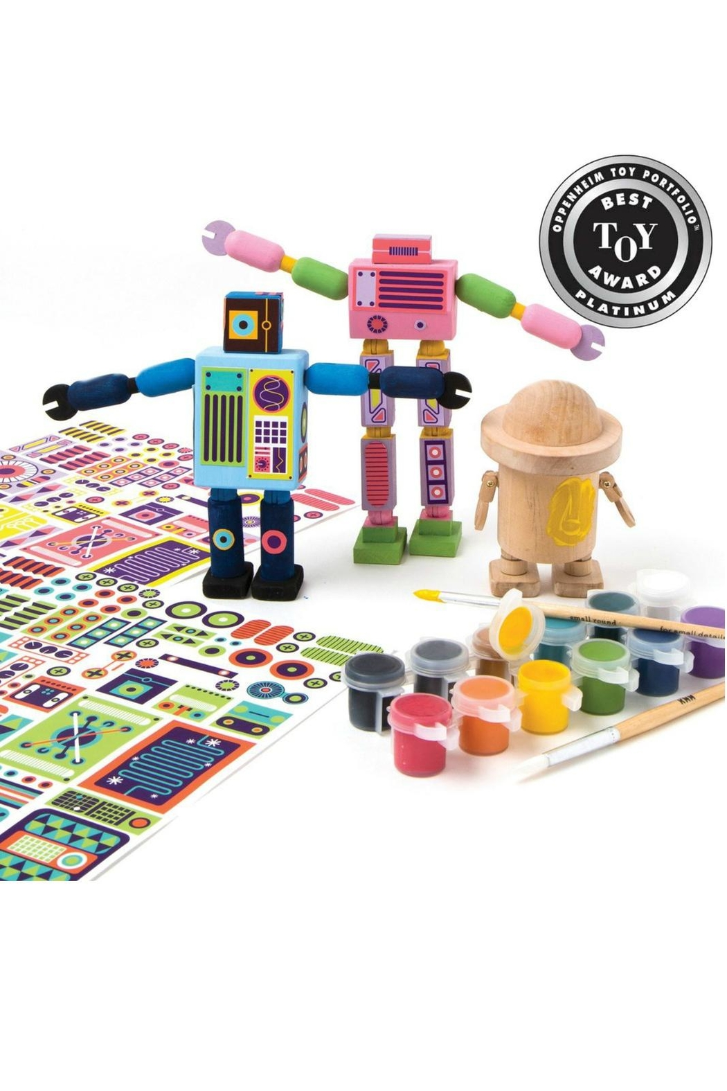 Kid Made Modern Wooden Robot Kit - Front Full Image