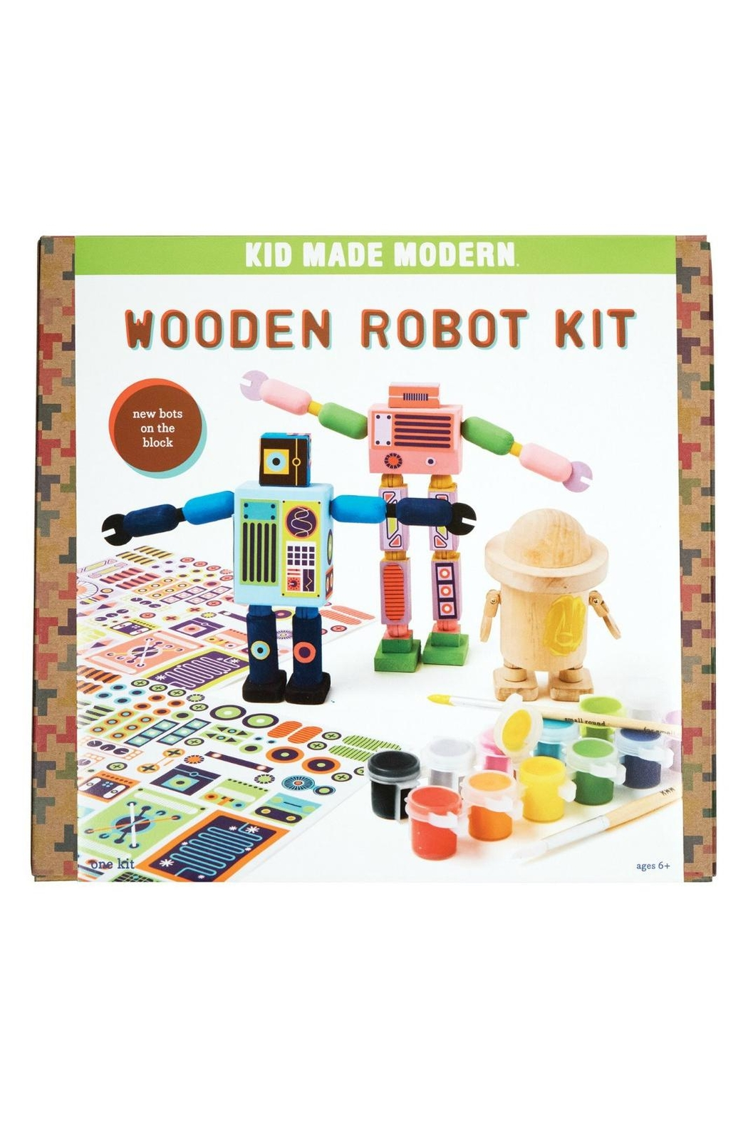 Kid Made Modern Wooden Robot Kit - Main Image