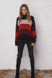 Wooden Ships Heidi Side-Zip Stripe Sweater - Product Mini Image