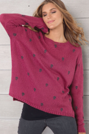 Wooden Ships Mini Skull Crew Neck - Front cropped