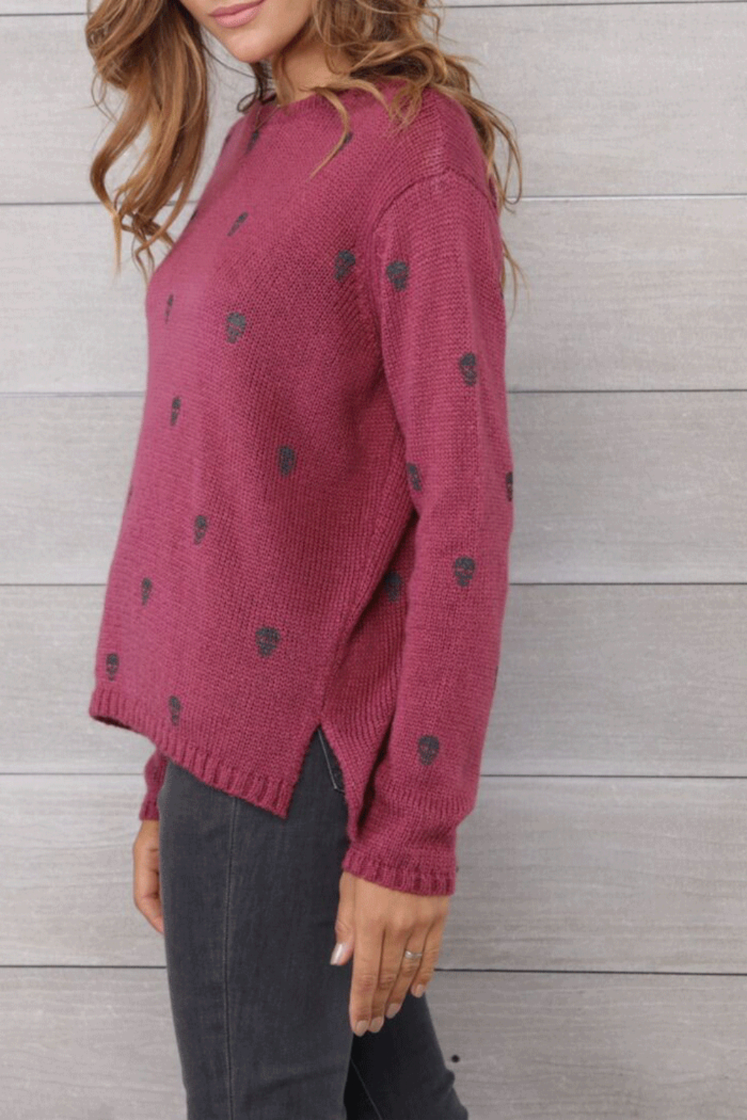 Wooden Ships Mini Skull Crew Neck - Side Cropped Image