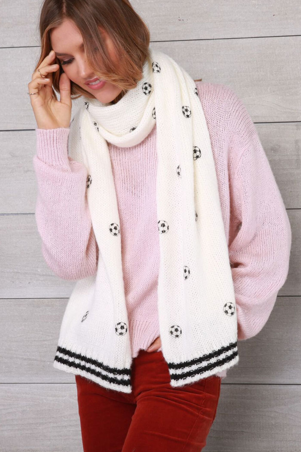 Wooden Ships Mini Soccer Ball Scarf - Front Cropped Image