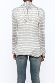 Wooden Ships Wrap Striped Cardigan - Back cropped