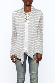 Wooden Ships Wrap Striped Cardigan - Side cropped