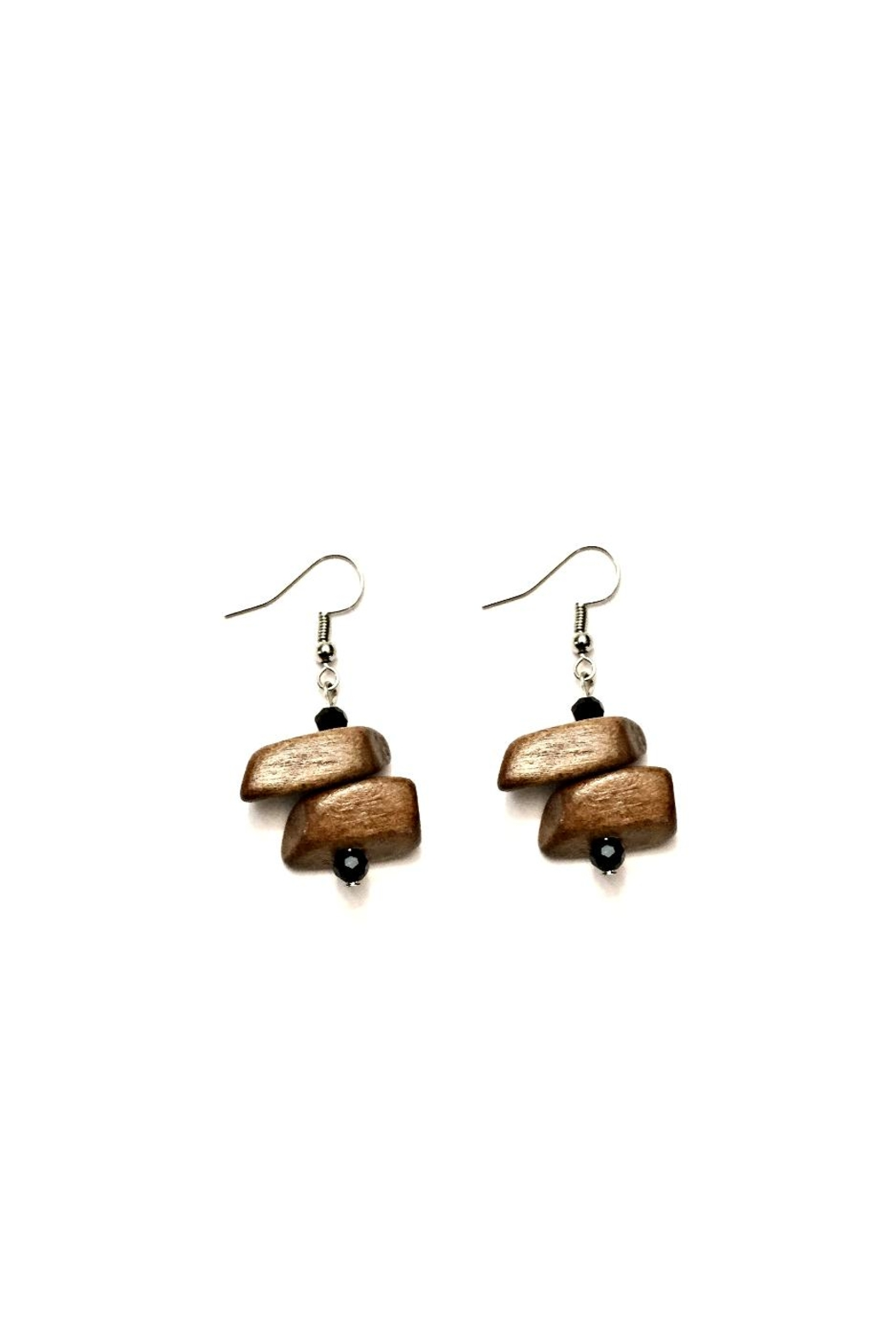 Love's Hangover Creations Wooden Swahili Earrings - Front Cropped Image