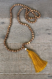 k.fisk Wooden Tassel Necklace - Product Mini Image