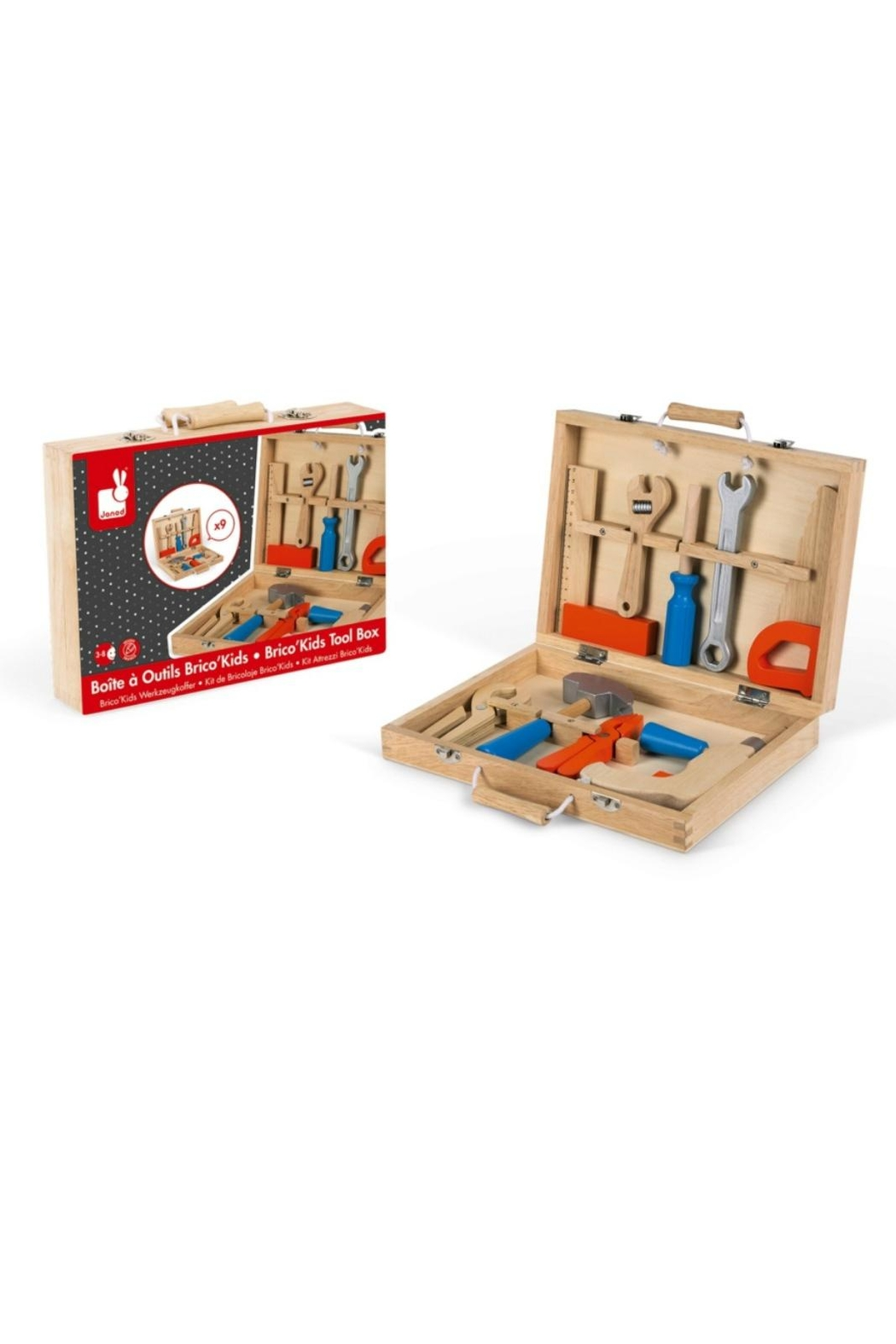 Janod Wooden Tool Kit - Front Cropped Image