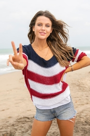 Wooden Ships American Flag Sweater - Side cropped