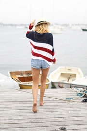 Wooden Ships American Flag Sweater - Back cropped