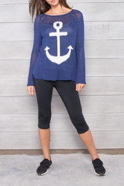 Wooden Ships Anchor Raglan Sweater - Product Mini Image