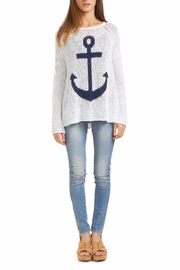 Wooden Ships Anchor Raglan Sweater - Front cropped