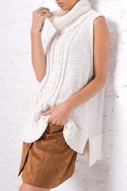 Wooden Ships Anika Cable Cowl Top - Front cropped