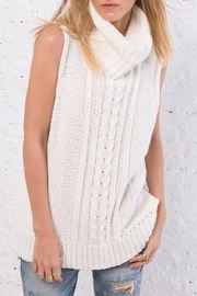 Wooden Ships Anika Cable Cowl Top - Front full body