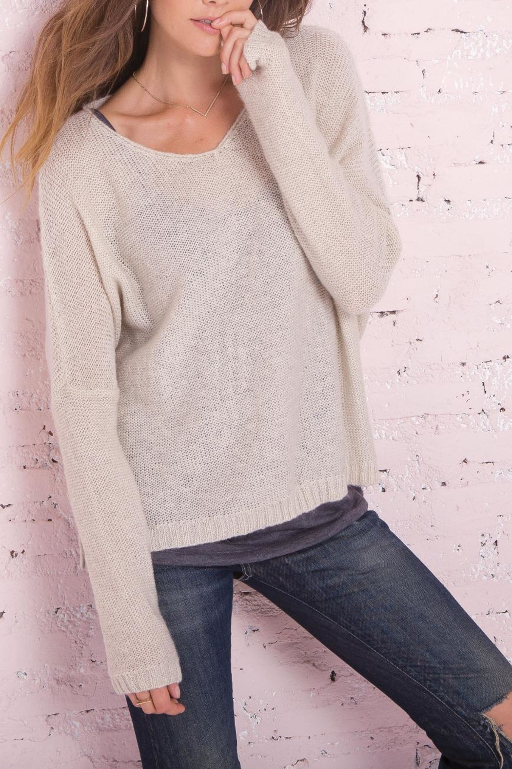 Wooden Ships Ansel V Sweater - Front Cropped Image