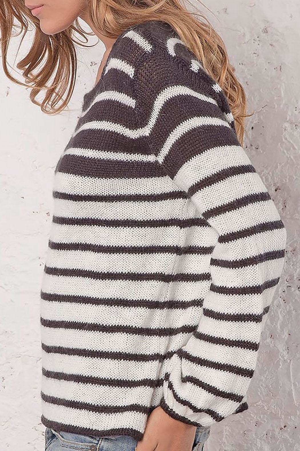 Wooden Ships Ashley Striped Crewneck - Front Full Image