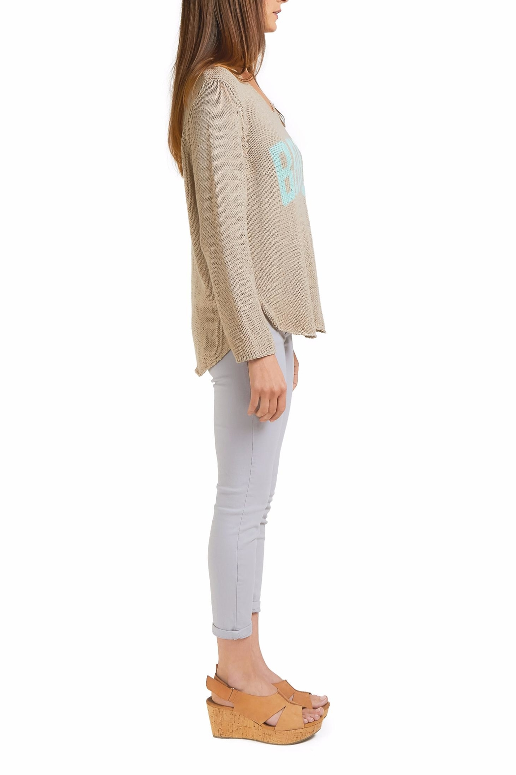 Wooden Ships Beach Sweater Top - Front Full Image
