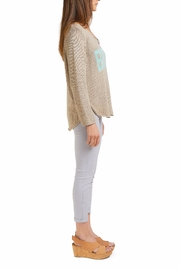 Wooden Ships Beach Sweater Top - Front full body