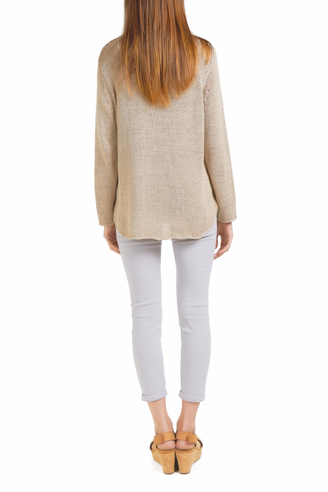 Wooden Ships Beach Sweater Top - Side Cropped Image