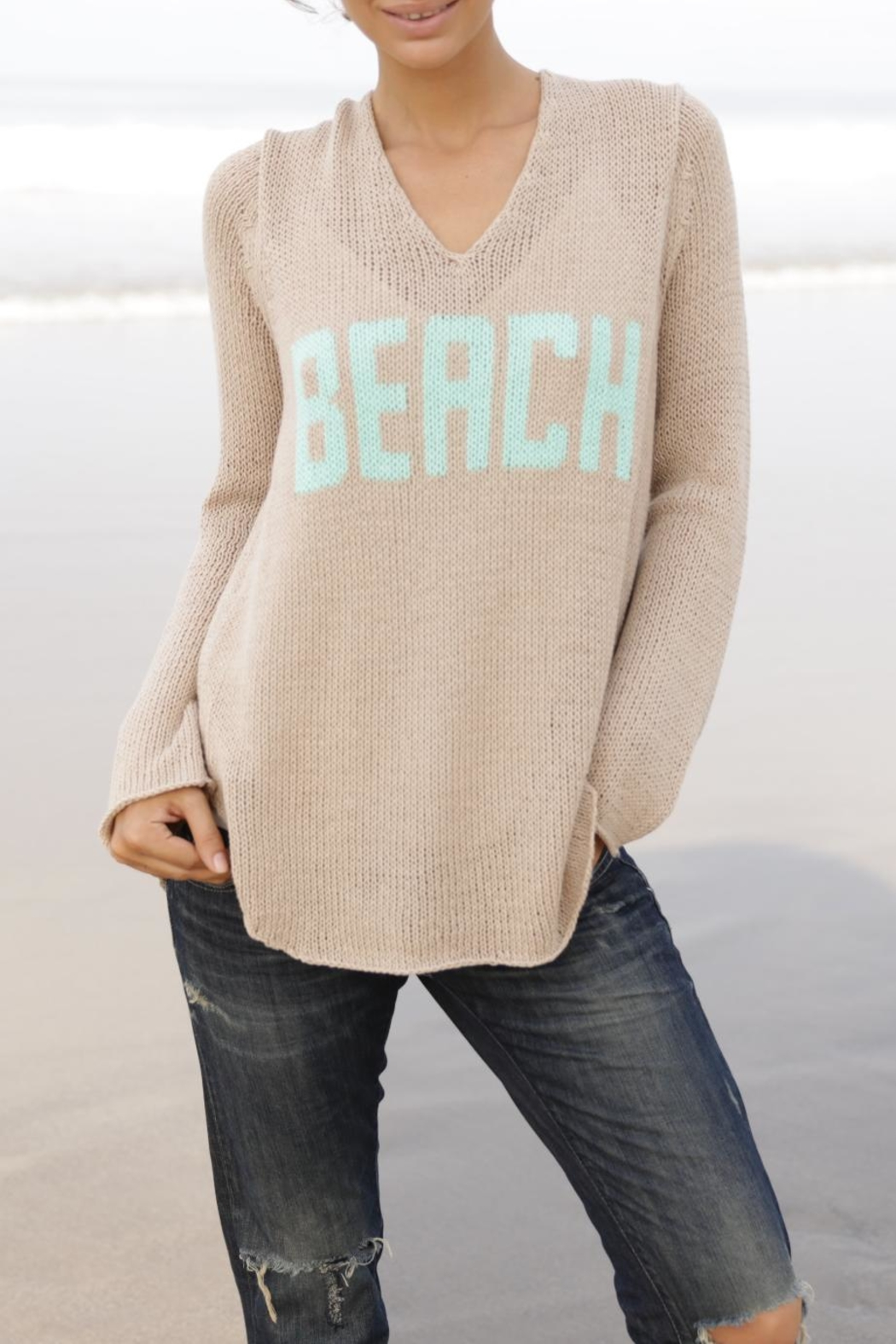 Wooden Ships Beach V Neck - Side Cropped Image