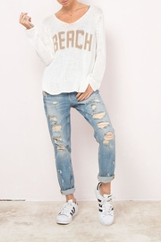 Wooden Ships Beach V-Neck Sweater - Front cropped