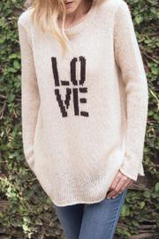 Shoptiques Product: Beige Love Crewneck