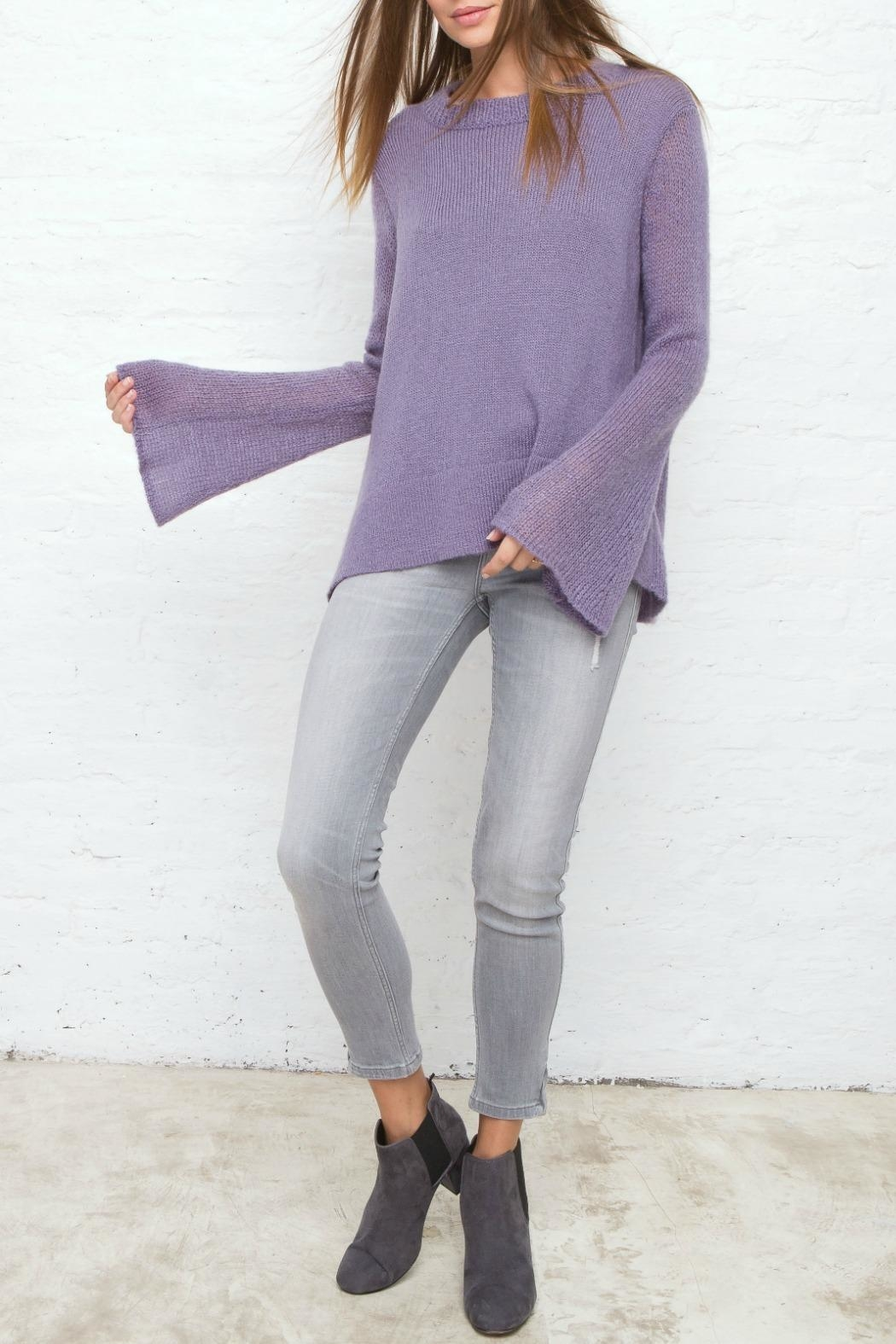 Wooden Ships Purple Bell Sleeve Sweater - Main Image