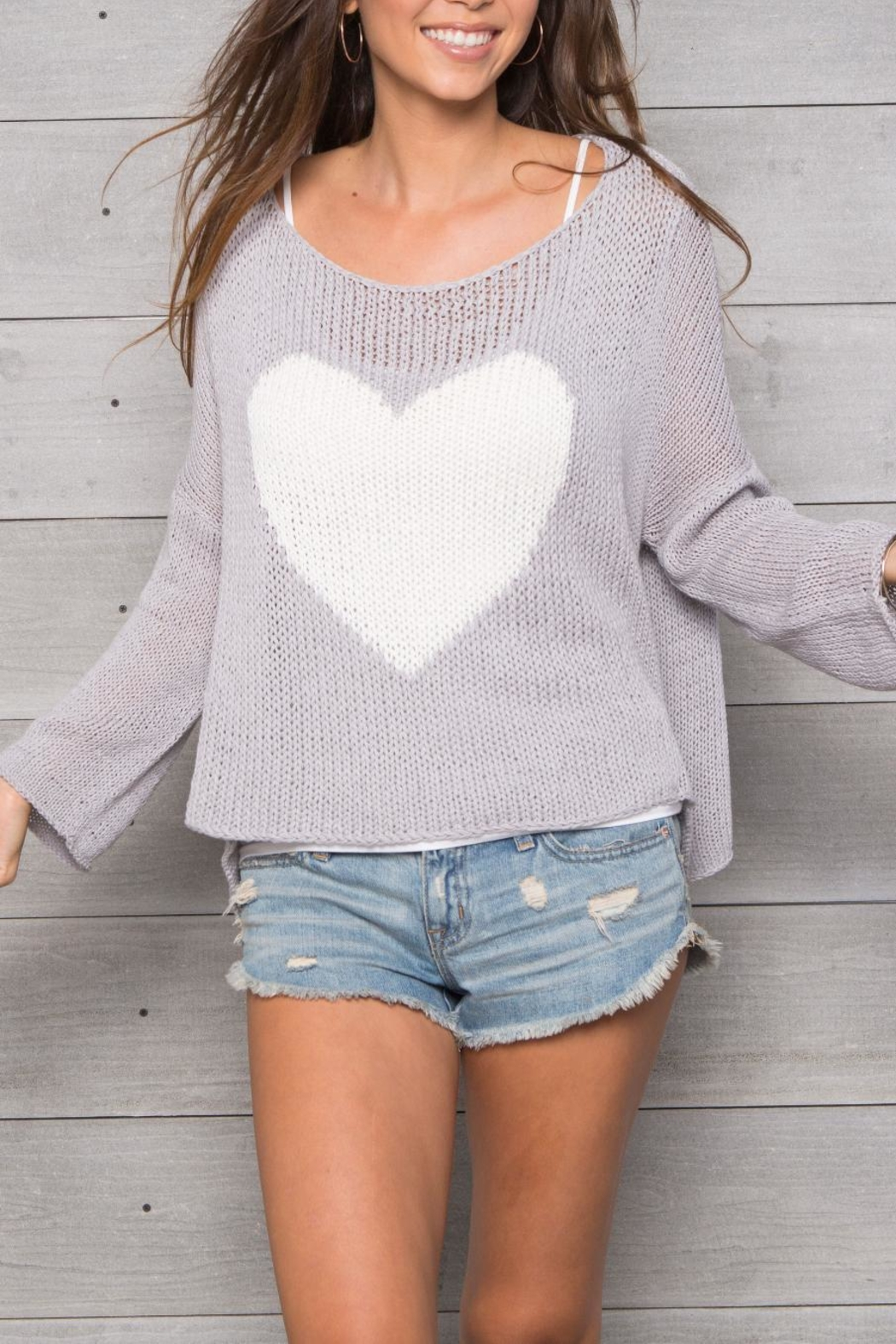 Wooden Ships Big Heart Sweater - Main Image