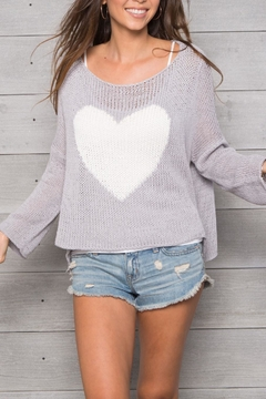 Wooden Ships Big Heart Sweater - Product List Image