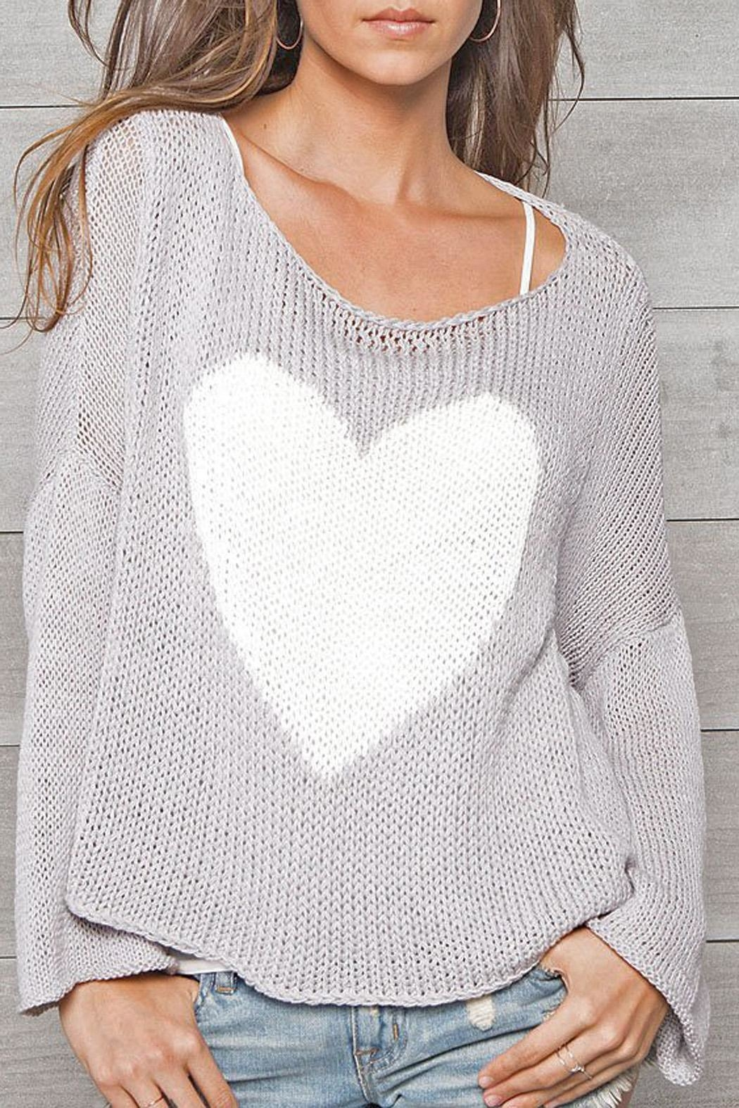 Wooden Ships Big Heart Sweater - Front Full Image
