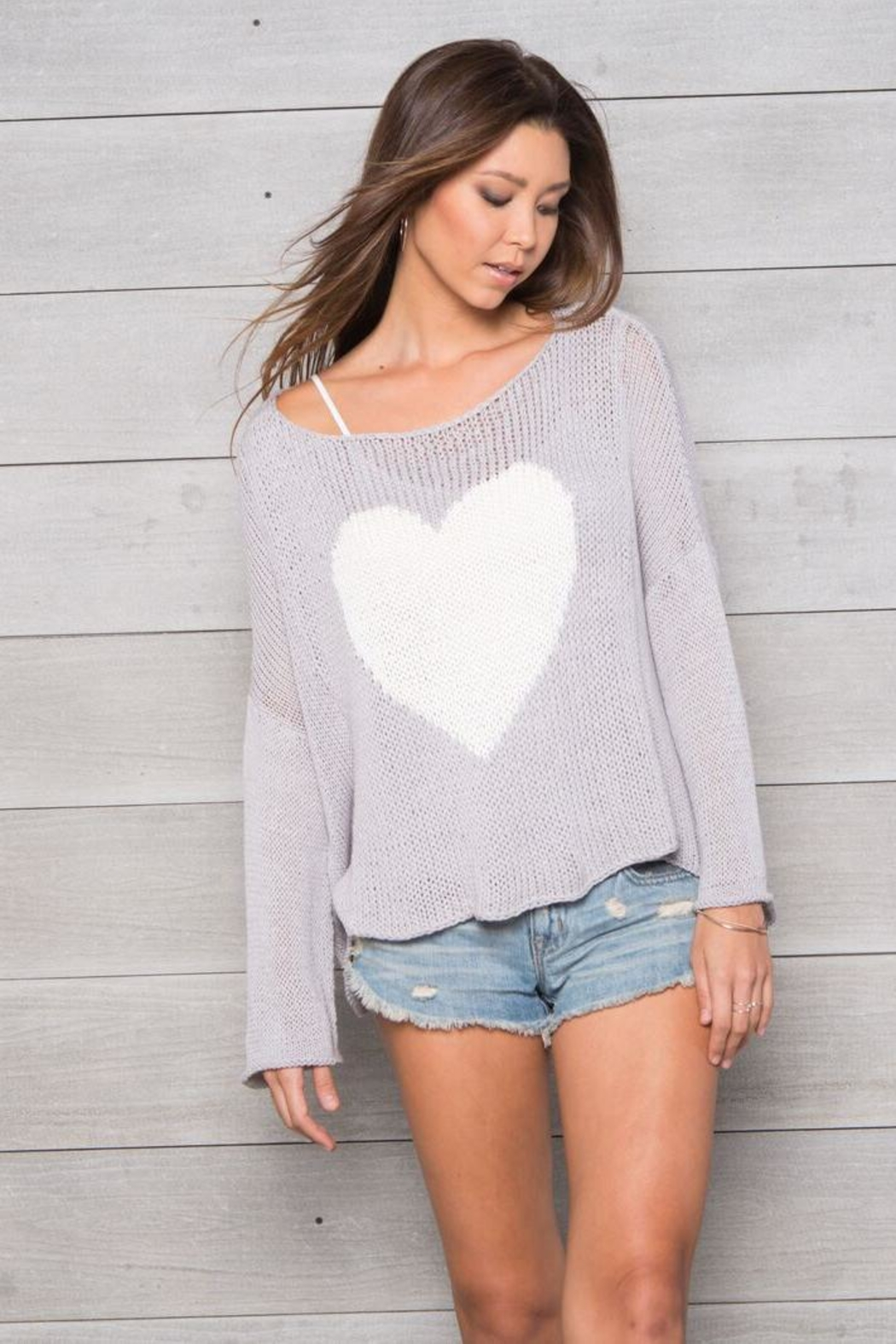 Wooden Ships Big Heart Top - Front Full Image