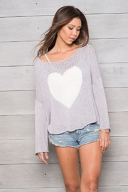 Wooden Ships Big Heart Top - Front full body