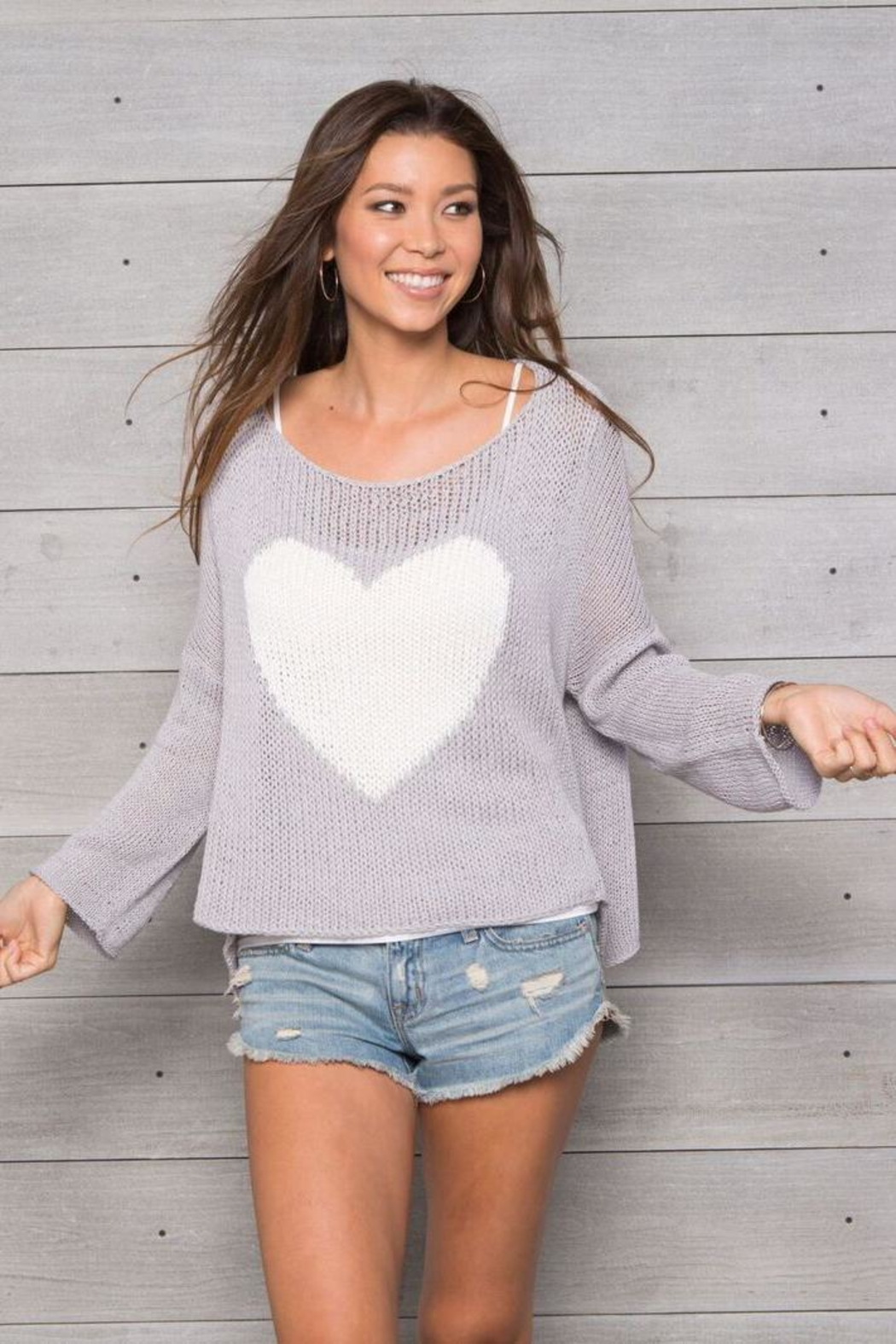 Wooden Ships Big Heart Top - Front Cropped Image