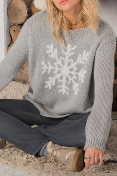 Wooden Ships Big Snowflake Sweater - Alternate List Image