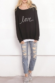 Wooden Ships Black Love Crew - Front cropped