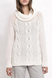 Wooden Ships Boyfriend Cable Turtleneck - Front cropped