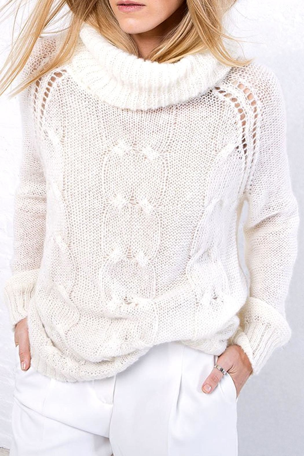 Wooden Ships Boyfriend Cable Turtleneck - Front Full Image