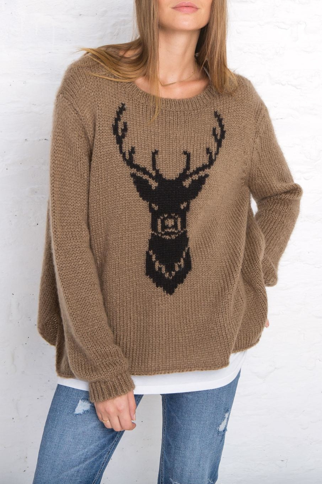 Wooden Ships Buck Crew Neck Top - Front Cropped Image