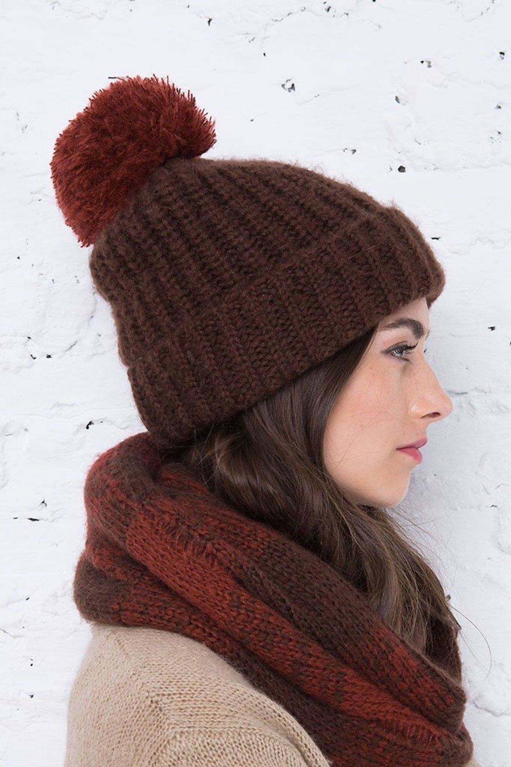 Wooden Ships Button-Off Pom Hat - Back Cropped Image