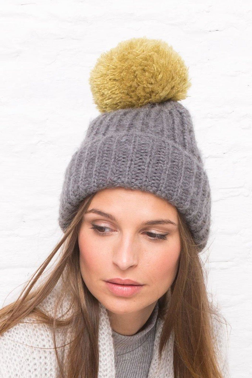 Wooden Ships Button-Off Pom Hat - Front Full Image