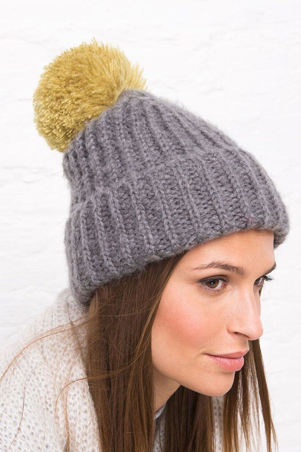 Wooden Ships Button-Off Pom Hat - Front Cropped Image