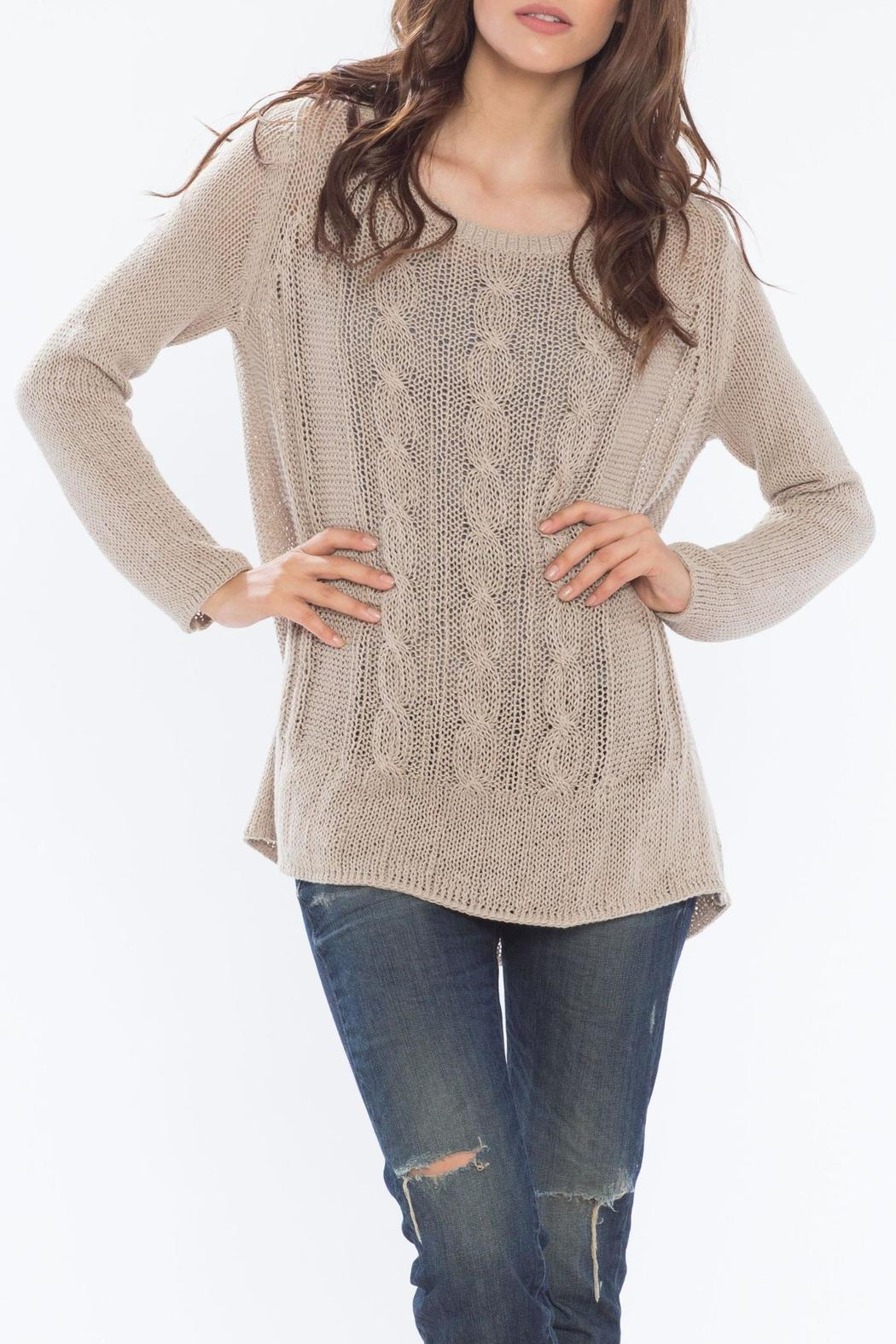 Wooden Ships Cable Knit Tunic From Massachusetts By Sundance