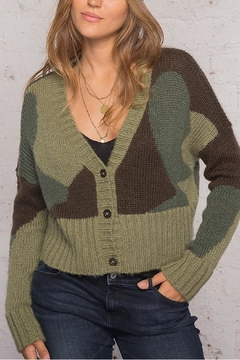 Wooden Ships Camo Cardi Sweater - Alternate List Image