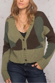 Wooden Ships Camo Cardi Sweater - Product Mini Image